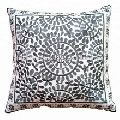 block embroidered medallion pillow cushion cover