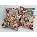 eco-friendly suzani embroidered cotton cushion cover