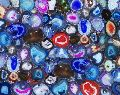 Brazilian Multicolor Agate Semi Precious Stone Slab