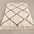Handwoven Wool Accent Floor Rug