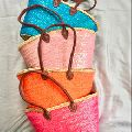 palm leaf woven boho bag