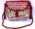 Women Shoulder Hand Bag Leather Banjara Embroidery Bag Purs