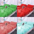 Lace Design Linen Duvet Cover Set