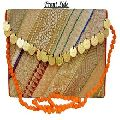 Coin with zari work Flower beaded banjara style bag