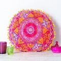 Design cushion With Pom Pom Lace Cushion Cover