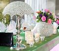 Crystal ball wedding candelabra