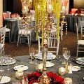 Nickel Plated Candelabra with Flower Bowl