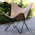 Canvas Leather Butterfly Outdoor Garden Chair