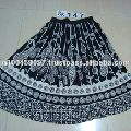 Printed Short Cotton Skirt