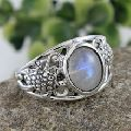 moonstone gemstone ring