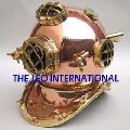 Copper metal Nautical Diving Helmet