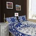 cotton printed for bed sheet set