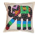 Cover Knitted Patchwork Indian Elephant Design Cushion Cover