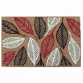 Leaf Print Coir Doormat