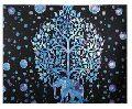 Mandala Elephant Hippie Psychedelic Art Tapestry,
