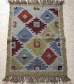 Moroccan Berber Patchwork Hand Woven Kilim Wool Rug Carpet