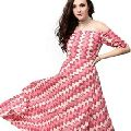 Women Off Shoulder Geometrical Print Vintage Maxi Dress