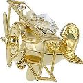 Gold Plated Crystal Helicopter Showpieces