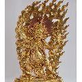 HAND CARVED BICHHUPANI ANTIQUATED GOLD COPPER STATUE