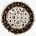 Round Shape Hand-knotted Pure Wool Carpet