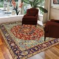 Handmade Luxury Traditional Wool Serapi Carpet and Rug