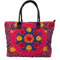 Pink Suzani Shopping Lady Bag