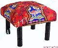 Embroidery Ottoman Foot Stool