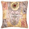 Decorative Sari Throw Pillow Cover