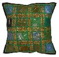Embroidered Patchwork Cushion Cover