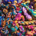 sari silk chiffon ribbons