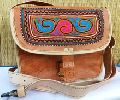Hand Crafted Leather Ladies Handbags and Satchels with Hand Embroidery
