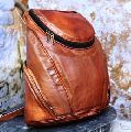 leather vintage style back pack
