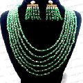 Crystal Green Stone Beaded Necklace