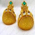 Kundan CZ Stone Pearl Beaded Earrings