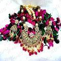 Kundan Ruby Stone Pendant Necklace Set