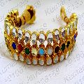Kundan Stone Beaded Gold Plated Bracelet