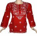 Vintage Lakhnavi Chikan Embroidered Kurti