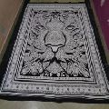 black printed lion tapestry