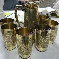 Handmade Brass Lemon Drinkware Set