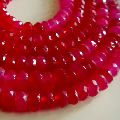 Faceted Rondelle Gemstone Beads