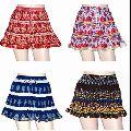 Cotton Mini Wrap Boho Block Print Skirt