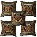 Designer Silk Jacquard Sofa Cushion Cover
