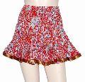 Hand Block Print Sanganeri Cotton Mini Skirt
