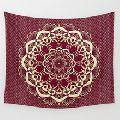 Burgundy Mandala tapestry bedsheets