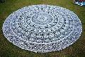 Round Mandala Indian Bohemian Elephant Tapestry