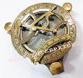 Antique Brass Sundial Compass