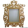 Gold plated wall mirror