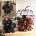 WIRE APPLE SHAPE FRUIT BASKET