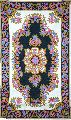 CHAINSTITCH TAPESTRY WOOLEN RUG, MULTICOLOR EMBROIDERY 3X5 FEET