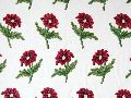 Cotton Crewel Embroidered Fabric Bloom, Multicolor